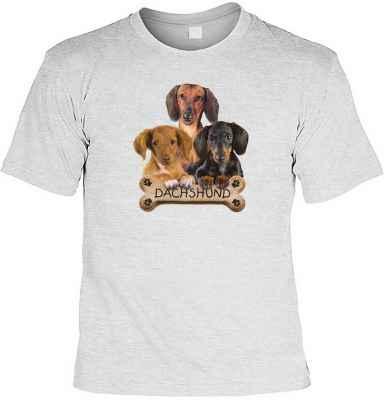 T-Shirt: 3 Dackel mit Knochen