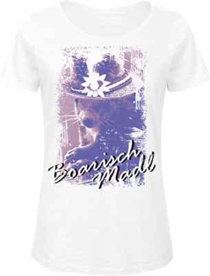 Damen T-Shirt Trachten: Boarisch Madl