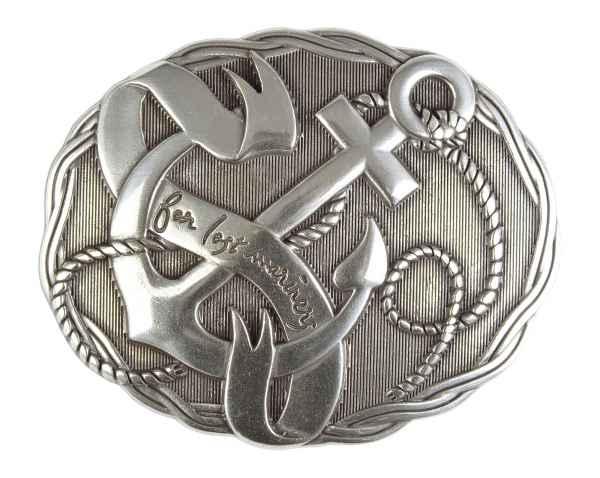 Gürtelschliesse: Lost mariners 8,5 x 6,5 cm
