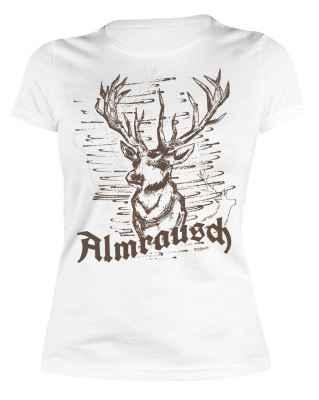 Trachten Damen T-Shirt: Almrausch - Hirsch