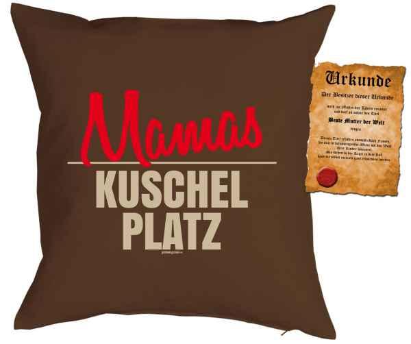 Kissen mit Füllung und Urkunde: Mamas Kuschelplatz
