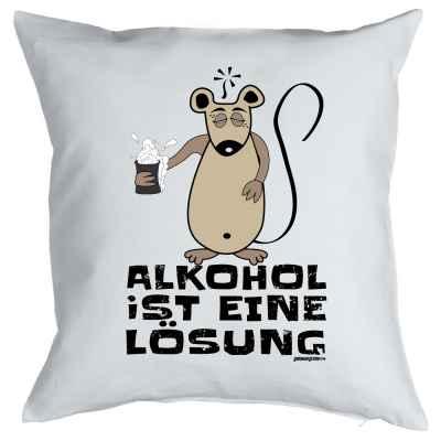 Kissenbezug: Alkohol ist eine Lösung
