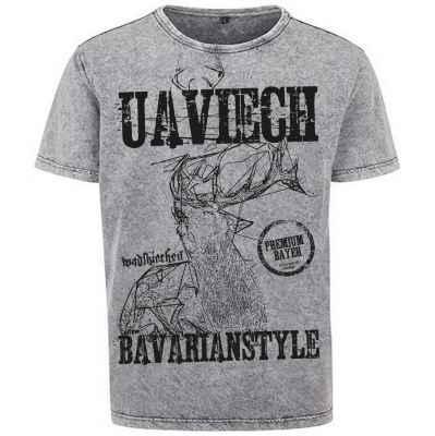 Herren T-Shirt Acid Washed Farbe: Grauschwarz Material: 100% Baumwolle Größen: S - XXL Besonderheit: Aufgrund seiner speziellen Veredelung und Färbung ist jedes Kleidungsstück einzigartig und hat ein individuelles Aussehen