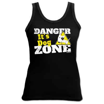 Tank Top Damen: Danger - It s Dog Zone