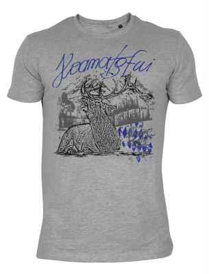 Trachten T-Shirt im Landhausstil: Hirsch Hoamatgfui