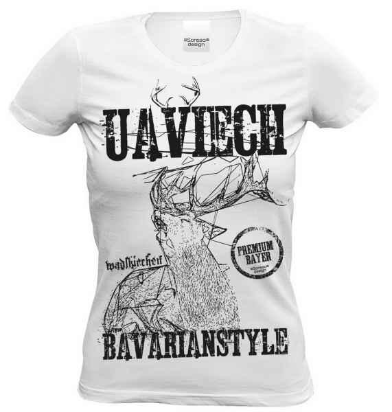 Damen T-Shirt Farbe: weiß Material: 100% Baumwolle Größen: S - XXL