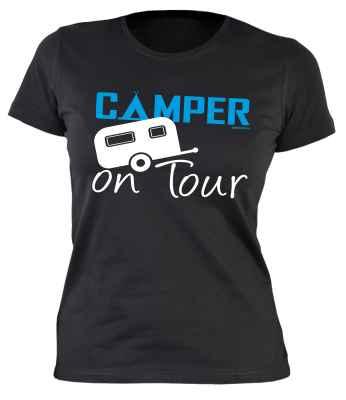 Damen T-Shirt: Camper on Tour