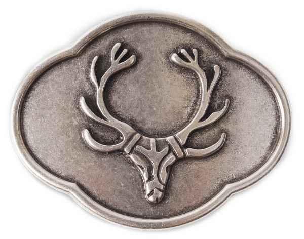 Gürtelschliesse Jagd silber 40 mm