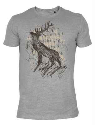 Shirt im Landhausstil: Hirsch stehend