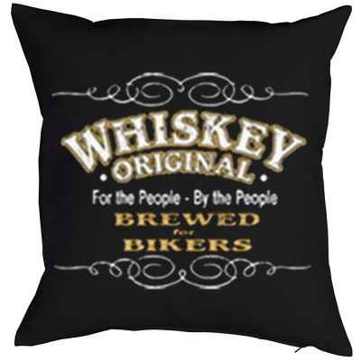 Kissen mit Füllung: Whiskey original - For the People - By the People - Brewed for Bikers
