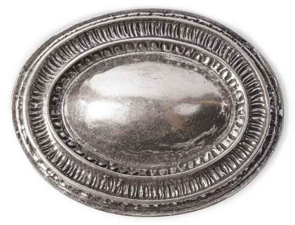 Gürtelschliesse Ornamente silber 40 mm