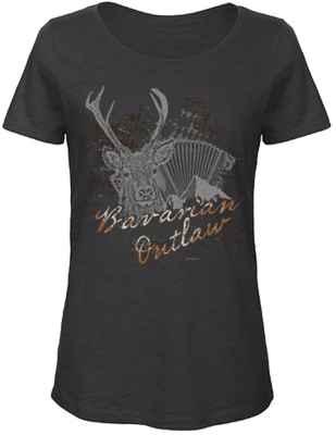 Landhaus T-Shirt Damen: Bavarian Outlaw Hirsch