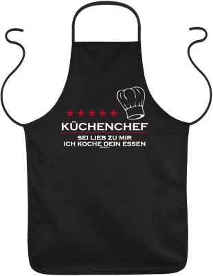 Schürze: Küchenchef - Sei lieb zu mir, ich koch Dein Essen