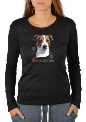 Langarmshirt Damen: I love my Jack Russel Terrier