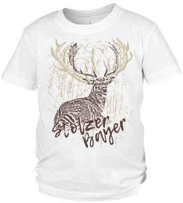 Trachten T-Shirt Jungen: Hirsch Stolzer Bayer