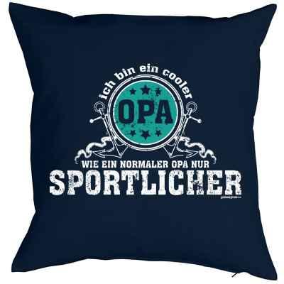 Kissenbezug: Ich bin ein cooler Opa - wie ein normaler Opa nur sportlicher