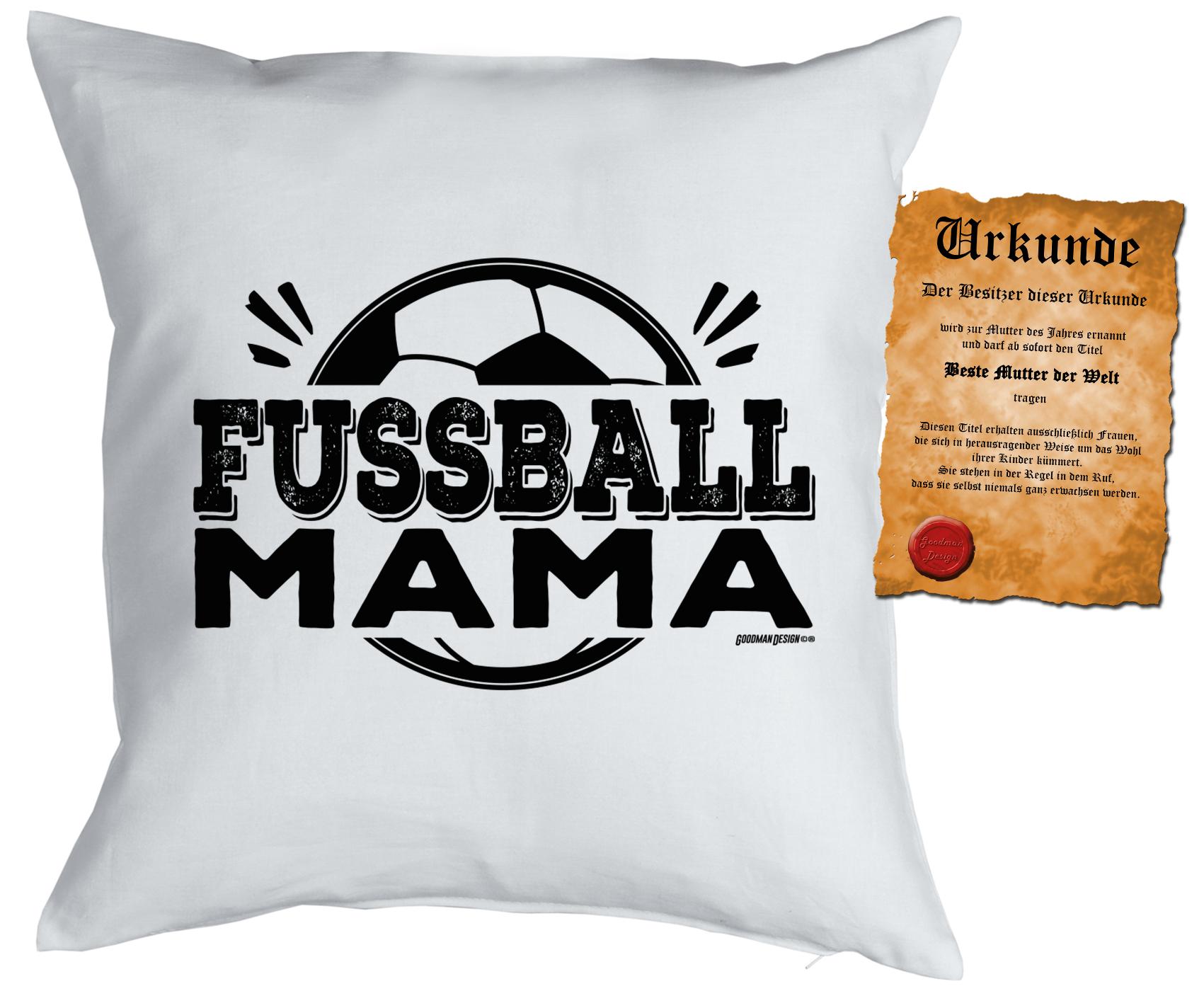 Kissen Mit Fullung Und Urkunde Fussball Mama