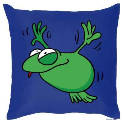 Kissenbezug: fliegender Frosch