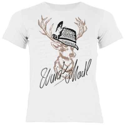 Trachten Shirt Mädchen: Hirsch - Wuids Madl