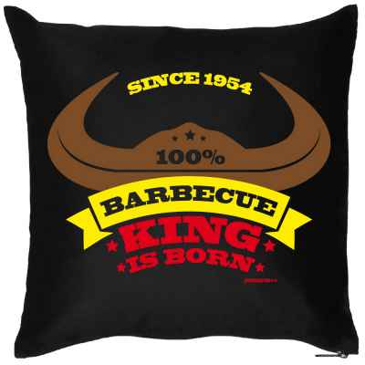 Kissenbezug: since 1954 - 100 Prozent Barbecue King is born